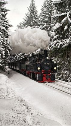 Steam locomotive in the snow-early December in Sweden. source Flickr.com