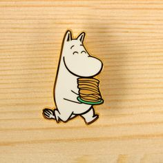 Moomin x the little dröm store – Moomin with pancakes brooch. We're super excited to collaborate with Moomin to design a series of Moomin products, in celebration of Tove Jansson's 100th year anniversary! http://shop.thelittledromstore.com/product/moomin-x-drom-brooch-pancake