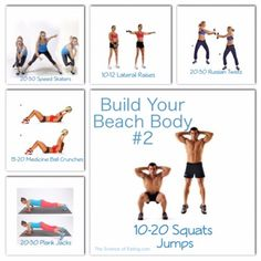 Workout Build Your Beach Body 2 Full Body Circuit, Russian Twist, Medicine Ball, Thigh Exercises, Toning Workouts, Summer Body, Beach Covers, Workout Ideas, Beachbody