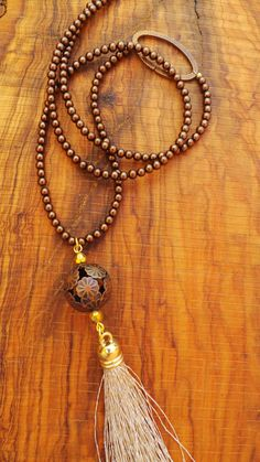 Long beaded tassel necklace with tassel. by AllAboutEveCreations, $30.00