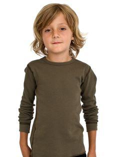 American Apparel Kids Thermal Long Sleeve T-Shirt Cute Boys Haircuts, Little Boy Hairstyles, Toddler Boy Haircuts, Boys Long Hairstyles, Boy Cuts, Cute White Boys, Thermal Long Sleeve, Hair Cuts, Hair Beauty