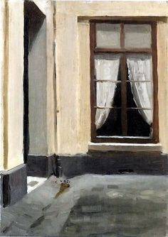 Edward Hopper - Interior Courtyard at 48 rue de Lille, Paris (1906)