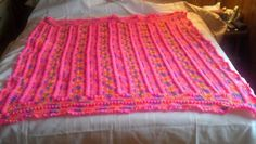Comfort Weavers Crocheted Pop Corn Stitch Babys Pink Afphgan Blanket Throw #comfortweaver