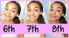 I think that a lot of girls in middle school or going into middle school should watch this. I think that it will help a lot of girls! Middle School Makeup, Everyday Makeup For School, Middle School Dance, Middle School Outfits, First Day Of School Outfit, School Dances, 8th Grade Graduation, Graduation Makeup, Makeup For Tweens