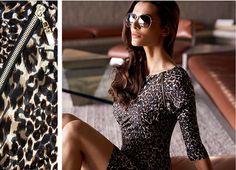 Joseph Ribkoff Leopard Print Dress