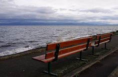 Benches at Qualicum Beach - HBM by ruthlesscrab, via Flickr (Vancouver Island, BC)