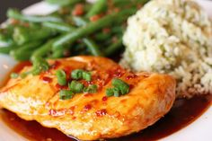 Want a healthy dinner recipe that packs plenty of protein and is sweet and zesty? This honey Italian recipe is a skillet glazed, marinated chicken breast garnished with scallions that is delicious!