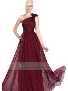 One Shoulder Pleated Ruffles Floor-length Bridesmaid Dress Black Friday Sale