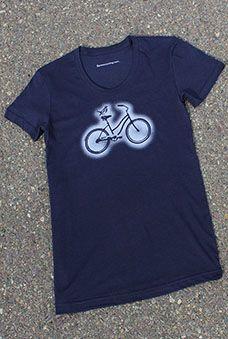 Biker Chick T Shirt (scoop-neck, navy): $28.00 #fashion #sport #fitness #health #women