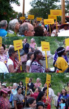 Shots from the International Folk Art Market artist procession at the Community Celebration at The Santa Fe Railyard.