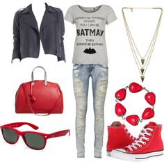"""""""Red look"""" by milky-silvers on Polyvore"""