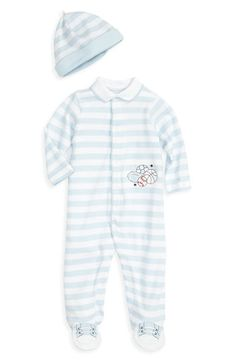 Little Me Footie & Hat (Infant) available at #Nordstrom