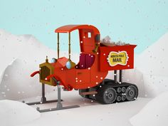 North Pole Mail Truck by Jeremiah Shaw