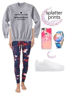 """""""Halsey"""" by cheapchicceleb ❤ liked on Polyvore featuring adidas, adidas Originals, Casetify, splatter, CelebrityStyle, halsey and splatterprints"""