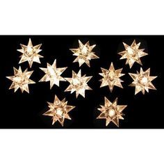 Set of 10 Clear 3-Dimensional Crystal Star Novelty Christmas Lights - Green Wire - Walmart.com $20.99 free shipping