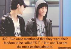Exo Facts I would Gladly be liked to be called an alien.....If exo wants it