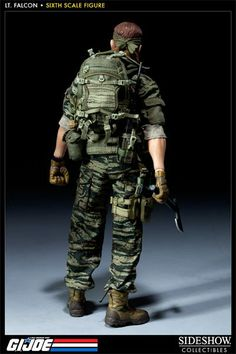 onesixthscalepictures: Sideshow Collectibles GI Joe Green Beret - Lieutenant Falcon : Latest product news for 1/6 scale figures (12 inch col...