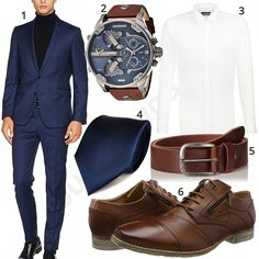 Business-Outfit mit dunkelblauem Strellson Anzug – Business outfit with dark blue Strellson suit Gentleman Mode, Gentleman Style, Emporio Armani, Blue Sherwani, Neue Outfits, Work Outfits, Stylish Outfits, Moda Formal, Mens Vans Shoes