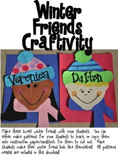 Winter Friends Craft and writing papers/ prompts