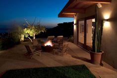 Big Bowl O' Zen Firebowl in Pacific Palisades garden design: John T. Unger Sculptural Firebowls + Art