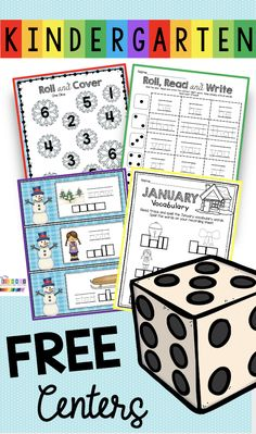 FREE KINDERGARTEN WORKSHEETS CVC and phonics centers - FREE addition facts math centers for kindergarten - perfect for January math - phonics - reading - CVC words - sight words - winter vocabulary - teen numbers - snowman activities - sums of 5 addition and more - free activities for winter themed learning - virtual learning - kindergarten homeschool - math centers - reading centers and free sight word activities - snowman themed #kindergarten #kindergartenmath Free Kindergarten Worksheets, Reading Worksheets, Homeschool Kindergarten, Preschool, Free Activities, Learning Activities, Free New Year Cards, Phonics Centers, Teen Numbers