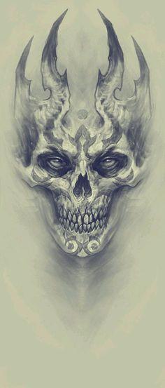 Skulls and Dragons Tattoos . Skulls and Dragons Tattoos . Evil Skull Tattoo, Skull Tattoos, Body Art Tattoos, Hand Tattoos, Sleeve Tattoos, Skull Hand Tattoo, Tattoo Design Drawings, Skull Tattoo Design, Skull Design