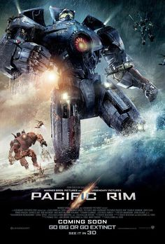 The latest poster for Pacific Rim features the American Gipsy Danger Jaeger front and center with the other Jaeger robot warriors in the distance marching into battle.