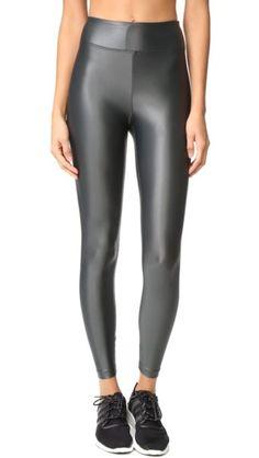 e0d6037e546ecb Lustrous High Rise Leggings By Koral Activewear Basic Leggings, Shiny  Leggings, Tight Leggings,