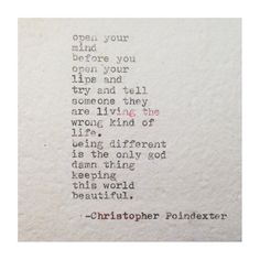#quotes #christopherpoindexter