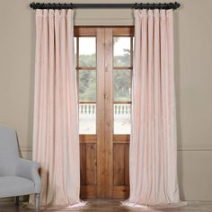 Riverton Plush Solid Blackout Rod Pocket Single Curtain Panel