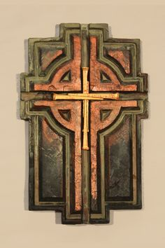 "Item Detail: - 10"" h x 6.5"" w - Cross shown represents coloration - Designer resin brings it to life on your wall - Each cross is made one at a time, variances in texture and color are not imprefectio"