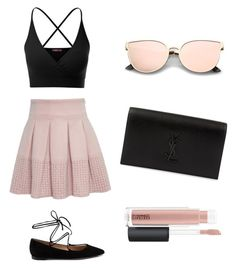 """""""."""" by like4likefollow4follow ❤ liked on Polyvore featuring Doublju, Gianvito Rossi, Yves Saint Laurent and MAC Cosmetics"""