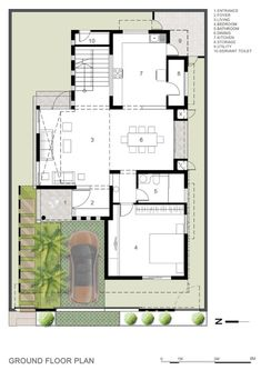 Architecture Discover Gallery of Tree Hugger / architects - 7 Image 20 of 26 from gallery of Tree Hugger / Architecture. Duplex Floor Plans, House Floor Plans, House Layout Plans, House Layouts, Indian House Plans, Architectural Floor Plans, Villa Plan, Model House Plan, Floor Layout