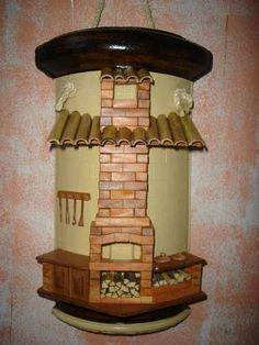 telhas decorada com biscuit - Pesquisa Google