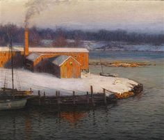 Lowell Birge Harrison - The Red Mill at Cos Cob,...