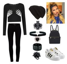 A fashion look from November 2015 featuring long-sleeve crop tops, J Brand and white sneakers. Browse and shop related looks. Eddie Borgo, Henri Bendel, J Brand, All Black, Adidas Originals, Rock, Shoe Bag, Polyvore, Stuff To Buy