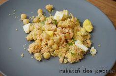 Salada de couscous, atum e grão