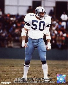 D. D. Lewis ( Dwight Douglas Lewis) Oct. 16 1945, named after Dwight Eisenhower and Douglas MacArthur, played for The Dallas Cowboys from 1968 - 1981. Played in more playoff games than any other Cowboy. (27) Only 1 of 8 NFL players who have played in 5 Super Bowls. ( V,VI,X,XII and XIII)