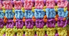 Block stitch seems to be a favourite on the rounds of Crochet blog land and interlocking block stitch has popped up in the   Lets get Craf...