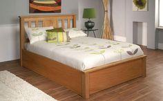 Terran Oak Ottoman Storage Wooden Bed