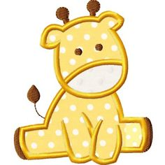 Baby Giraffe Applique Design