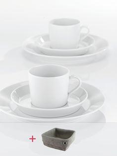 TRIC   WHITE Kaffee-Set 18-tlg. + gratis Brotkorb
