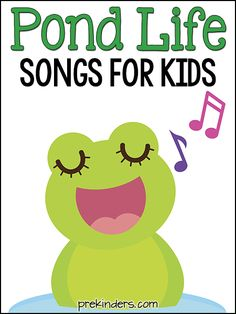 Here are some fun songs to use while teaching a Pond Life unit ! These songs are great for Pre-K, Preschool, and Kindergarten. This is a curated song list.