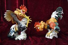 Roosters porcelain Algora (Gallos porcelana Algora)