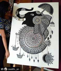 Doodle Art Drawing, Mandala Drawing, Cool Art Drawings, Art Drawings Sketches, Zentangle Drawings, Pencil Art Drawings, Mandala Art Lesson, Mandala Artwork, Mandala Painting