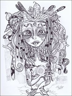 Ely Lugo   Mother Earth (Ink) / Madre Tierra (Tinta)