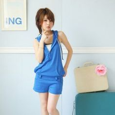Fashion and Cute Candy Color Jumpsuit For Women