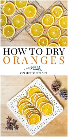 Learn how to make DIY dried oranges for simmering scent/potpourri, crafts & for beverage garnishes. No special equipment needed! How to dry orange slices.