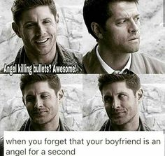 Supernatural destiel You are in the right place about computer Nerd Humor Here we offer you the most beautiful pictures about the Nerd Humor portugues you are looking for. Misha Collins, Jensen Ackles, Supernatural Destiel, Dean And Castiel, Supernatural Cartoon, Sam Dean, Funny Memes, Hilarious, It's Funny