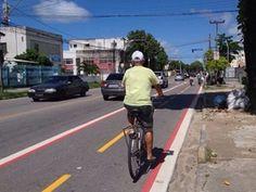 CTTU - Zona Oeste do Recife ganha mais uma ciclofaixa permanente +http://brml.co/1QFKGF0